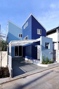 東京都目黒区S邸。中庭のあるナチュラルモダン住宅
